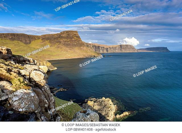 A view over Moonen Bay towards Waterstein Head and Ramasaig Cliffs