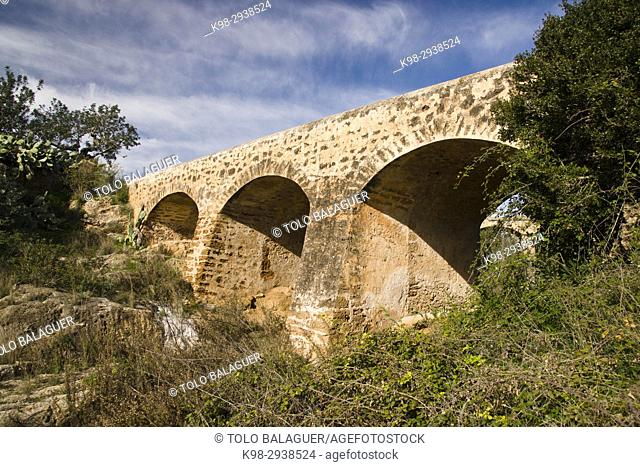 Pont Vell. Rio de Santa Eularia. Santa Eularia des Riu. Ibiza. Balearic islands. Spain