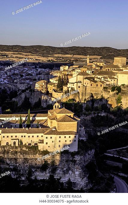 Spain, Cuenca City, Cuenca Monastery and city skyline