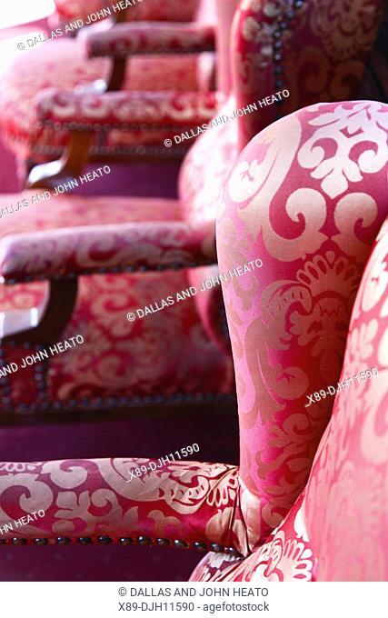 Africa, Tunisia, Metlaoui, Red Lizard  Lezard Rouge  Train, Interior Seating