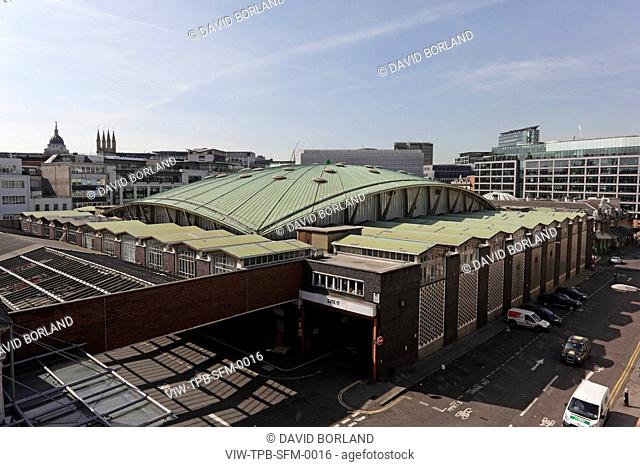 Smithfield Poultry Market T P Bennett & Son London 1963 Elevated view