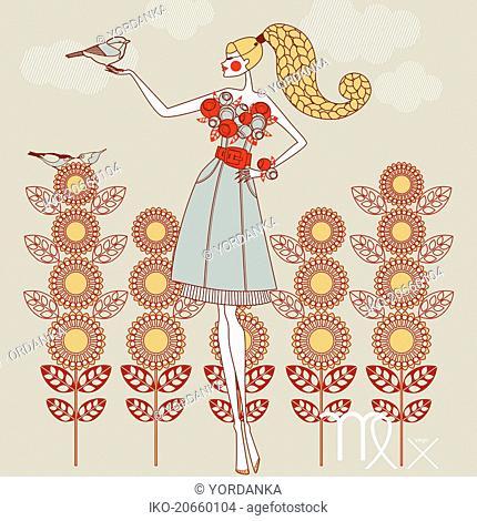 Fashion model as virgo zodiac sign