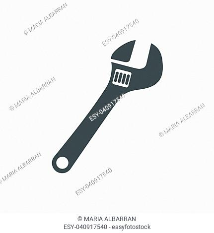 Wrench icon on white background