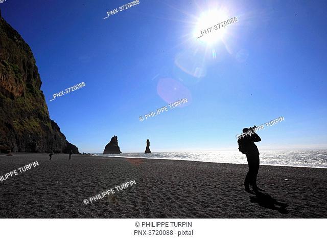 Iceland, Vik, Dyrholaey beach,ReynisfjallDyrholaey
