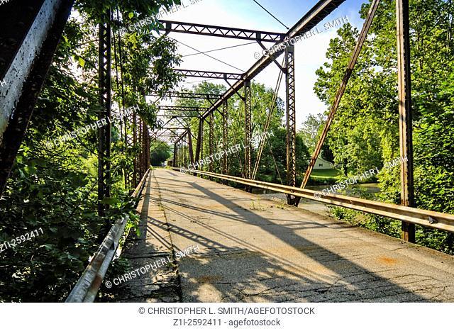 Disused Bridge over the Great Miami River in Shelby County, Ohio