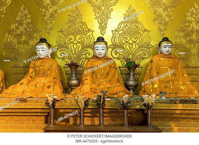 Buddha statues, Shwemokhtaw Pagoda, Pathein, Myanmar