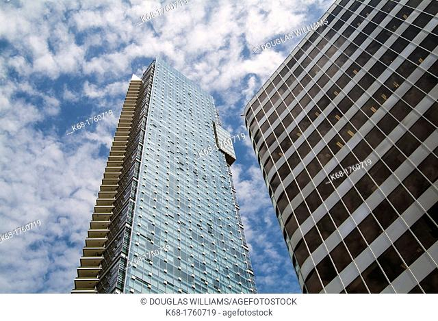 the Living Shangri-La Hotel and apartment building in downtown Vancouver, BC, Canada is the tallest building in the city