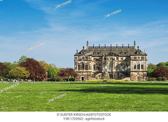 Palace in the Great Garden Park, build 1680, Dresden, Saxony, Germany, Europe