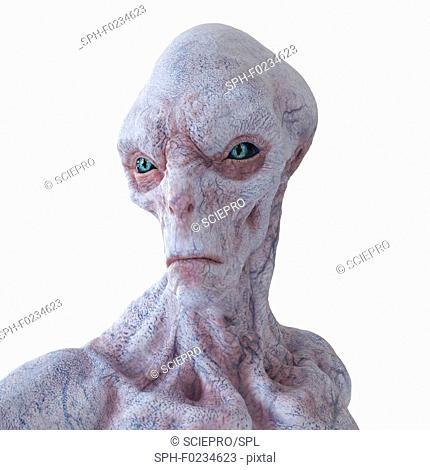 Illustration of an alien