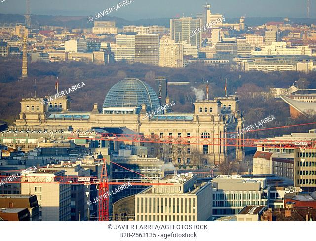 Aerial view, Reichstag, Berlin, Germany