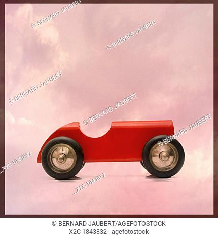 Wooden toy car, vintage look