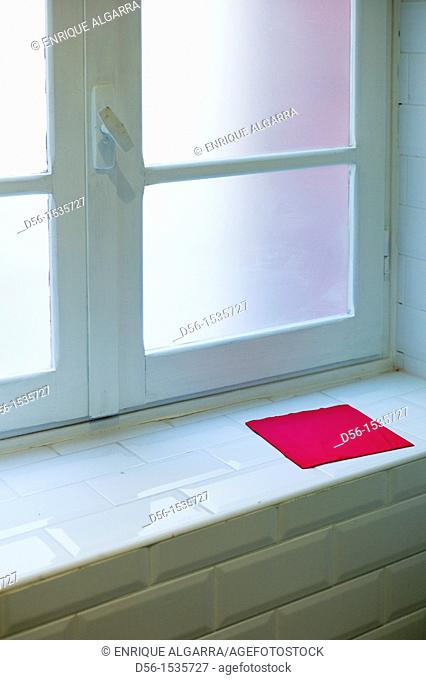 Window and red napkin