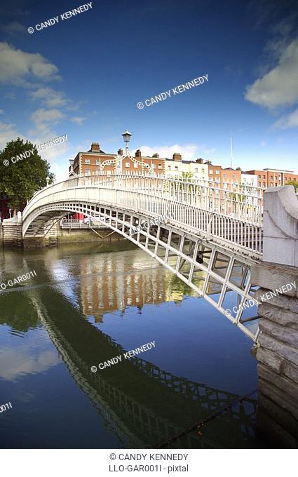 City Bridge Over the River Liffey  Dublin, Republic of Ireland