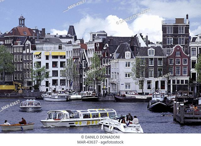 queen fest: amstel canal, amsterdam, holland