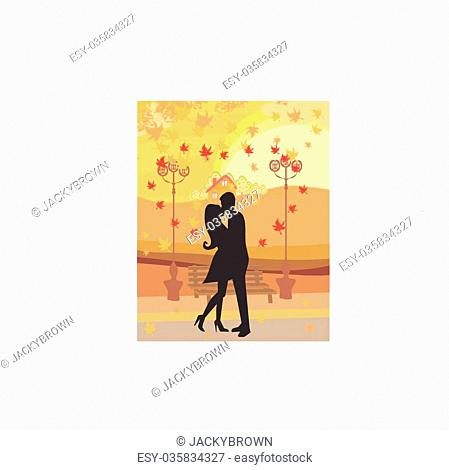 love couple in autumn