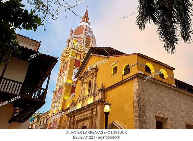 Cathedral Basilica of Saint Catherine of Alexandria, Cartagena de Indias, Bolivar, Colombia, South America
