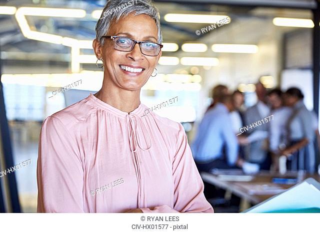 Portrait confident businesswoman