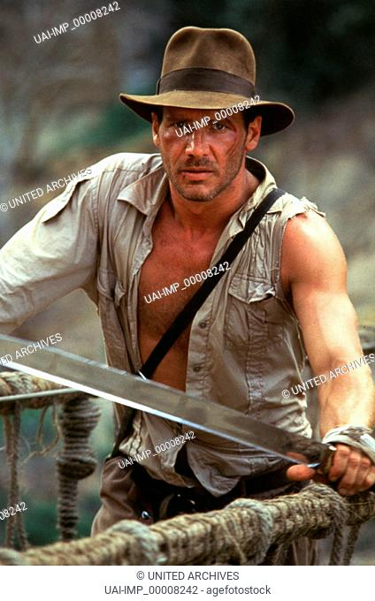 Indiana Jones un der Tempel des Todes, (INDIANA JONES AND THE TEMPLE OF DOOM), USA 1983, Regie: Steven Spielberg, HARRISON FORD, Stichwort: Schwert