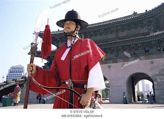 Korea, Seoul, Gyeongbokgung Palace, Entrance 'Heungnyemun', Watch, , Series, Asia, Eastern Asia, South Korea, capital, Kyongbokkung Palace, palace