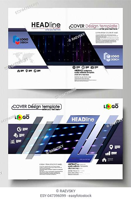 Business templates for bi fold brochure, magazine, flyer, booklet or annual report. Cover design template, easy editable vector, abstract flat layout in A4 size