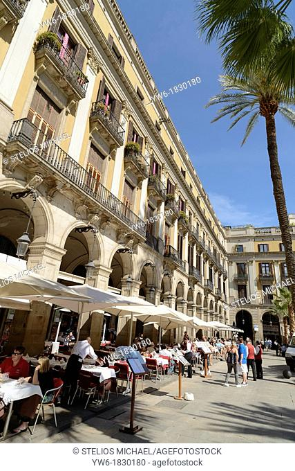 Plaza Real, Barcelona, Catalonia, Spain