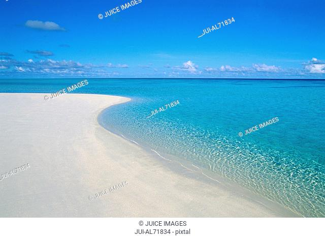 View of a tropical beach, Bora Bora, Society Islands, French Polynesia