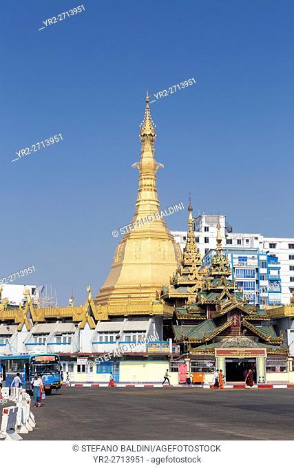 Sule Paya temple in Yangon, Myanmar