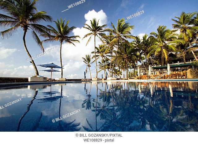 Pool area at Hemingways Resort - Watamu, Kenya