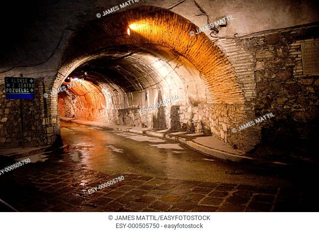 Former silver mines today form a fantastic network of subterranean traffic tunnels beneath downtown Guanajuato, Mexico