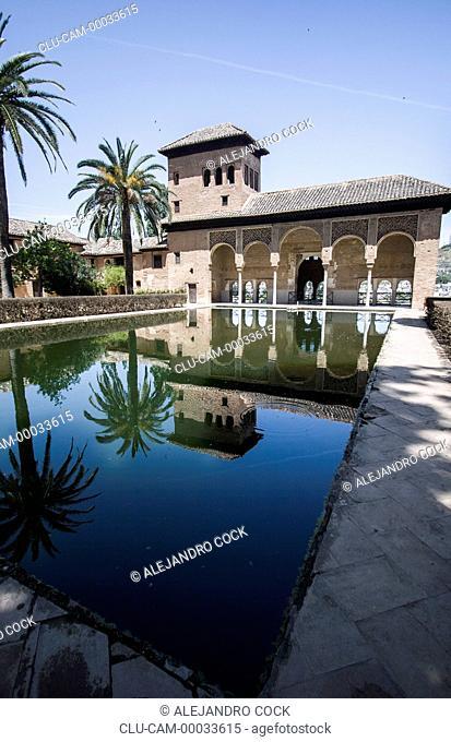 Tower of Ladies de Alhambra, Granada, Andalusia, Spain, Europe