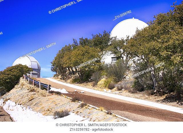 Telescope domes at the Kitt Peak National Observatory in Arizona