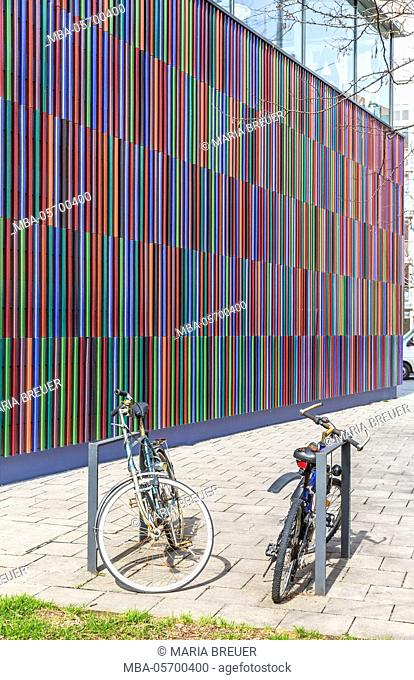 Facade from 36000 ceramics crews and 23 colours, Maxvorstadt, museum quater, Munich, Bavaria, Germany, Europe opens in 2009