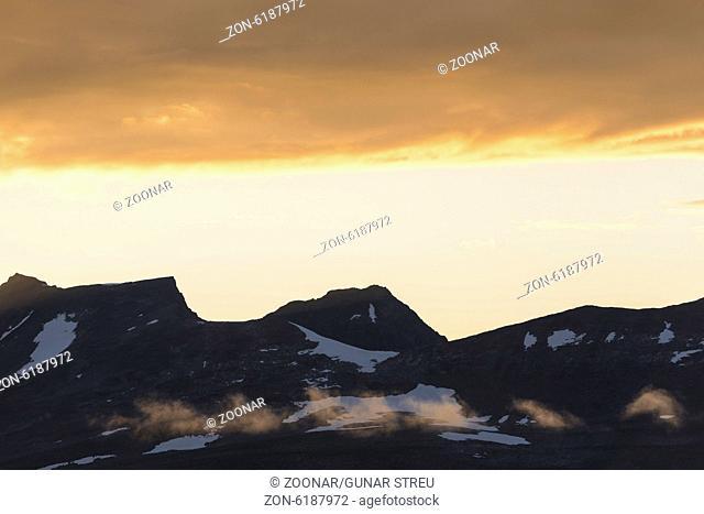 Mt. Akka in dusk, Lapland, Sweden