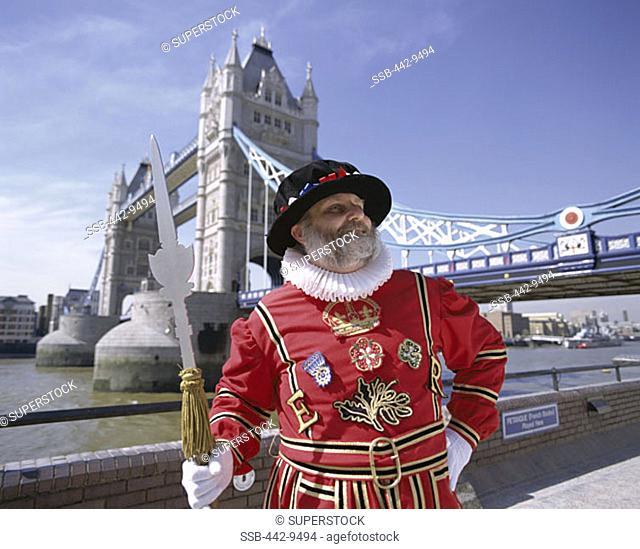 Beefeater, Tower Bridge, London, England