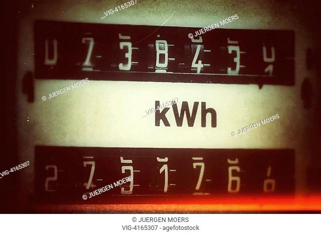 Germany, electric meter in private household