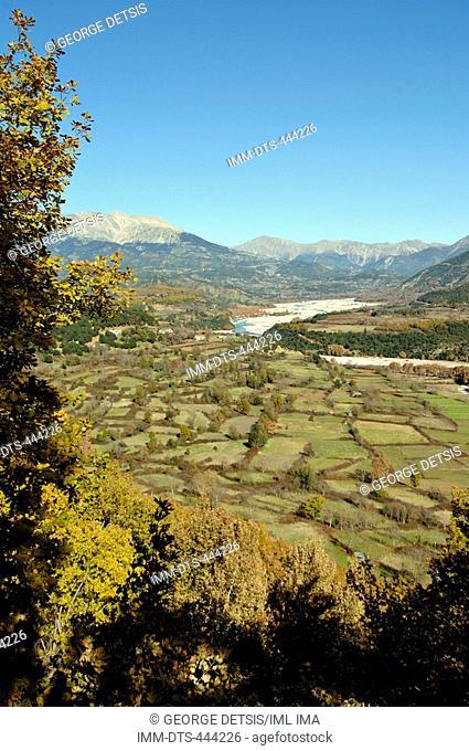 View of Acheloos river. Evritania, Central Greece, Greece, Europe