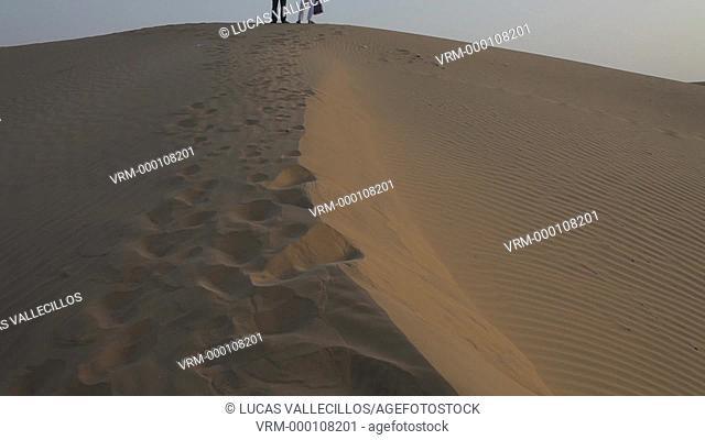 Sam dunes in Desert National Park in the Great Thar Desert,near Jaisalmer, Rajasthan, India