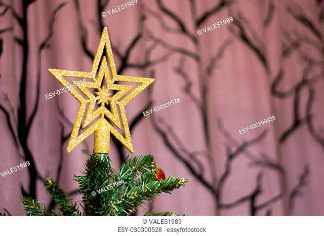 Star on the top of Christmas tree