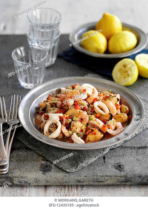Seafood antipasti