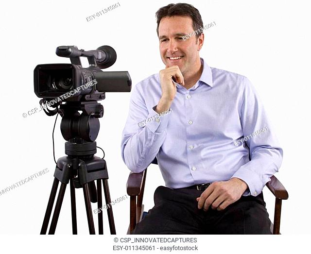 Casting Director With Camera