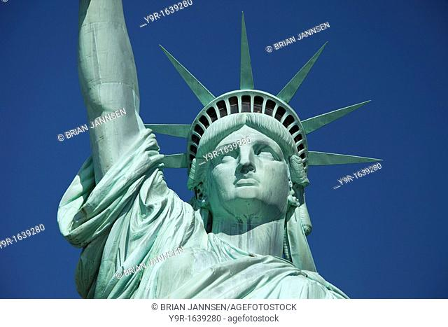 Statue of Liberty in New York Harbor, New York City USA