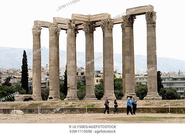 europe, greece, athens, temple of olympian zeus