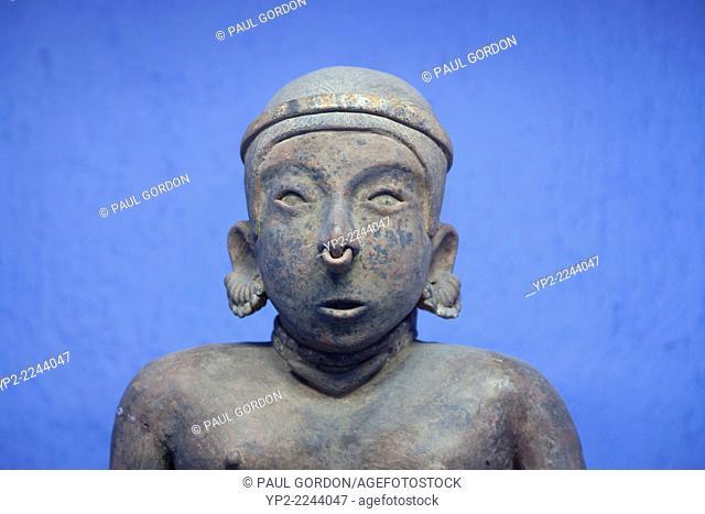 Male figure on display at the Rufino Tamayo Museum of Pre-Hispanic Art in the Centro Historico - Oaxaca de Juárez, Centro District, Valles Centrales, Oaxaca