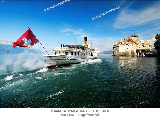 Chillon Castle, Steamboat Cruise, Lake Geneva, Switzerland