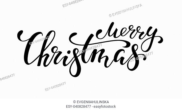 Merry Christmas. Hand drawn creative calligraphy and brush pen lettering. design for holiday greeting cards and invitations of the Merry Christmas and Happy New...