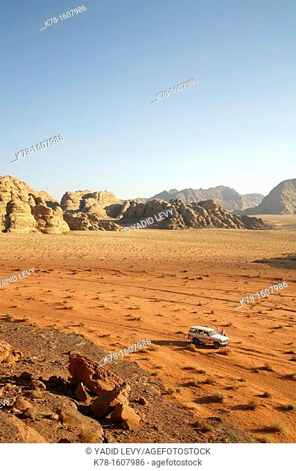 View seen from Umm Sabatah, Wadi Rum, Jordan