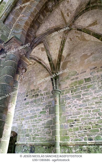 Ruins of a benedictine abbey in Pointe de Saint Mathieu  Finisterre department  Brittany region  France