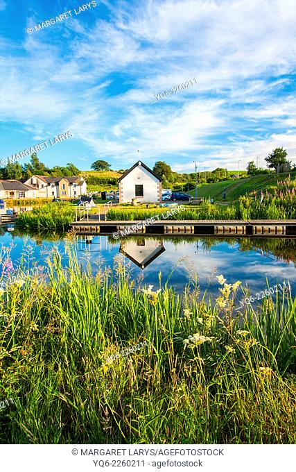 Forth and Clyde canal, Kilsyth in Scotland, Summer time