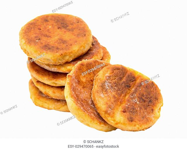 homemade biscuits on a white background