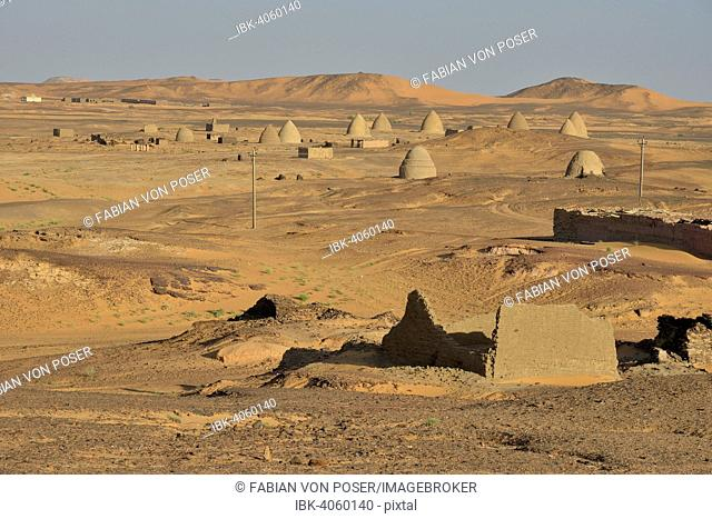 Domed mausoleums, called Qubbas, Old Dongola, Northern, Nubia, Sudan